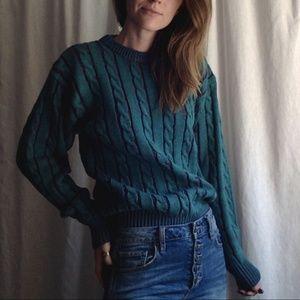 <VTG> Teal Knit Sweater